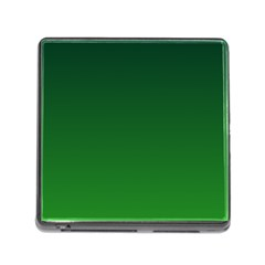 Dark Green To Green Gradient Memory Card Reader With Storage (square)