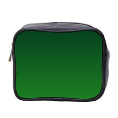 Dark Green To Green Gradient Mini Travel Toiletry Bag (Two Sides)