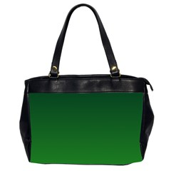 Dark Green To Green Gradient Oversize Office Handbag (two Sides)