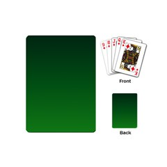 Dark Green To Green Gradient Playing Cards (mini)