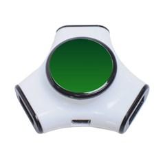 Dark Green To Green Gradient 3 Port Usb Hub