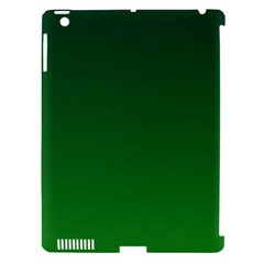 Dark Green To Green Gradient Apple iPad 3/4 Hardshell Case (Compatible with Smart Cover)
