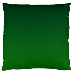 Dark Green To Green Gradient Large Cushion Case (One Side)