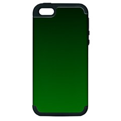 Dark Green To Green Gradient Apple Iphone 5 Hardshell Case (pc+silicone)