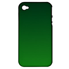 Dark Green To Green Gradient Apple iPhone 4/4S Hardshell Case (PC+Silicone)