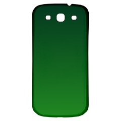 Dark Green To Green Gradient Samsung Galaxy S3 S III Classic Hardshell Back Case