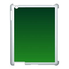Dark Green To Green Gradient Apple iPad 3/4 Case (White)