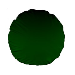 Dark Green To Green Gradient 15  Premium Round Cushion