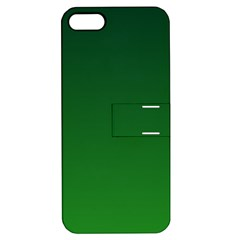 Dark Green To Green Gradient Apple iPhone 5 Hardshell Case with Stand
