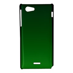 Dark Green To Green Gradient Sony Xperia J Hardshell Case