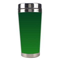 Dark Green To Green Gradient Stainless Steel Travel Tumbler