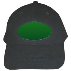 Green To Dark Green Gradient Black Baseball Cap