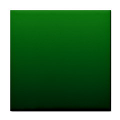 Green To Dark Green Gradient Ceramic Tile