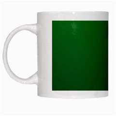 Green To Dark Green Gradient White Coffee Mug