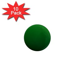 Green To Dark Green Gradient 1  Mini Button Magnet (10 pack)