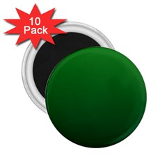 Green To Dark Green Gradient 2 25  Button Magnet (10 Pack)