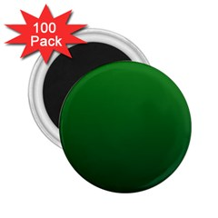 Green To Dark Green Gradient 2 25  Button Magnet (100 Pack)
