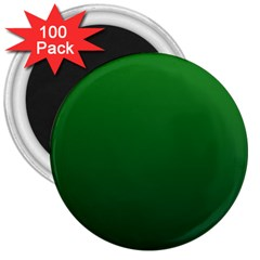 Green To Dark Green Gradient 3  Button Magnet (100 Pack)