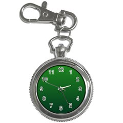 Green To Dark Green Gradient Key Chain & Watch