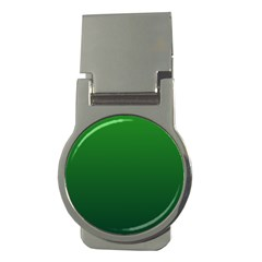 Green To Dark Green Gradient Money Clip (Round)
