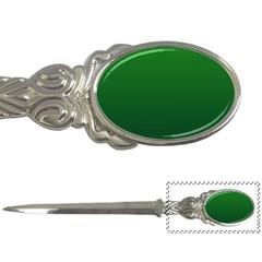 Green To Dark Green Gradient Letter Opener
