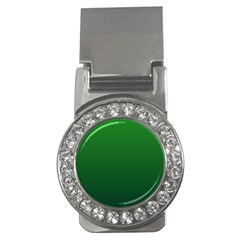 Green To Dark Green Gradient Money Clip (cz)
