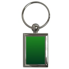 Green To Dark Green Gradient Key Chain (rectangle)