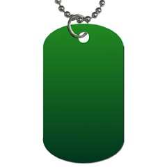 Green To Dark Green Gradient Dog Tag (Two Sided)