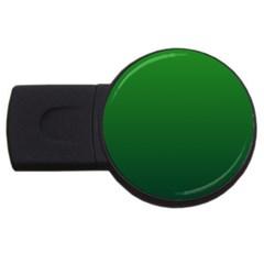 Green To Dark Green Gradient 2GB USB Flash Drive (Round)