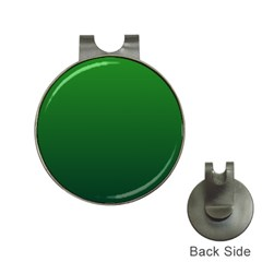 Green To Dark Green Gradient Hat Clip With Golf Ball Marker