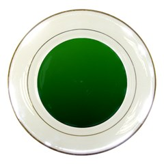 Green To Dark Green Gradient Porcelain Display Plate