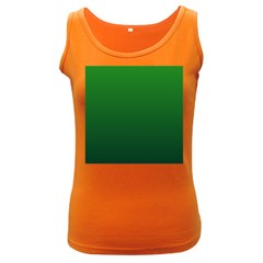 Green To Dark Green Gradient Womens  Tank Top (Dark Colored)