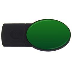 Green To Dark Green Gradient 4GB USB Flash Drive (Oval)