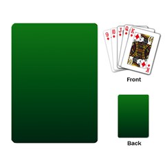 Green To Dark Green Gradient Playing Cards Single Design