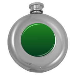 Green To Dark Green Gradient Hip Flask (round)