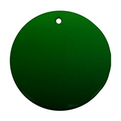 Green To Dark Green Gradient Round Ornament (Two Sides)