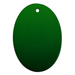 Green To Dark Green Gradient Oval Ornament (two Sides)