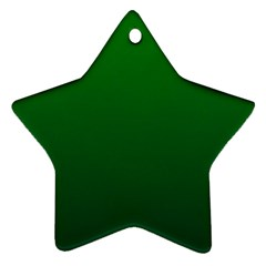 Green To Dark Green Gradient Star Ornament (Two Sides)