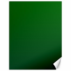 Green To Dark Green Gradient Canvas 12  X 16  (unframed)