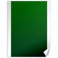 Green To Dark Green Gradient Canvas 18  x 24  (Unframed)