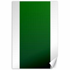 Green To Dark Green Gradient Canvas 20  x 30  (Unframed)
