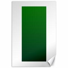 Green To Dark Green Gradient Canvas 24  x 36  (Unframed)