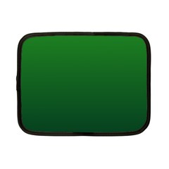 Green To Dark Green Gradient Netbook Case (small)