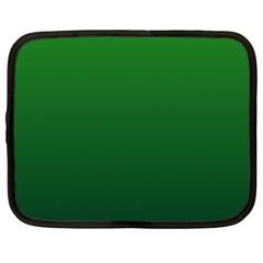 Green To Dark Green Gradient Netbook Case (Large)