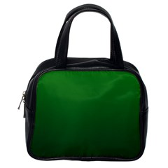 Green To Dark Green Gradient Classic Handbag (one Side)