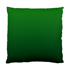 Green To Dark Green Gradient Cushion Case (Two Sides)