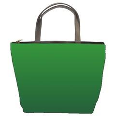 Green To Dark Green Gradient Bucket Bag