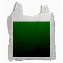 Green To Dark Green Gradient Recycle Bag (One Side)