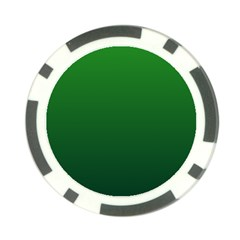 Green To Dark Green Gradient Poker Chip 10 Pack