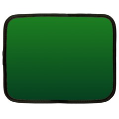 Green To Dark Green Gradient Netbook Case (xxl)